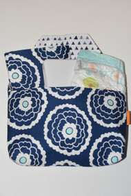 Navy Blooms Diaper-to-go bag