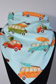 Surf time bandana bib with bamboo backing