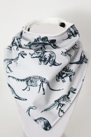 Dinosaurs bandana bib with bamboo back.