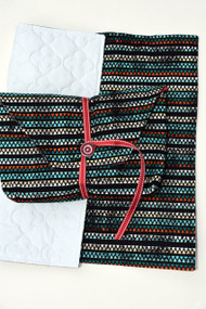 Aztec Stripe diaper-to-go bag closed view