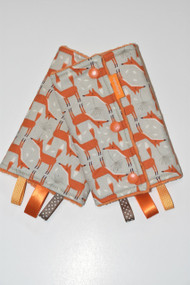Orange Foxes baby carrier drool pads