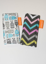 2 pack freezie Cozy in blue owl and girly chevron
