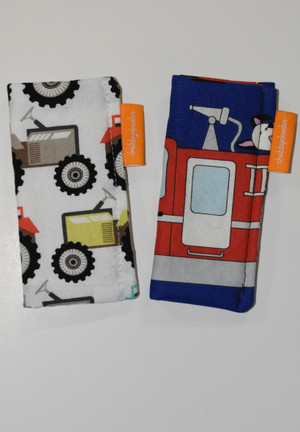 Tractor and fire truck 2 pack freezie cozy