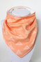Peach Triangles bandana bib with organic bamboo back