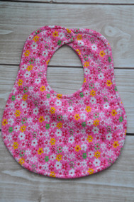 Pink Spring Floral classic bib