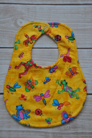 Yellow insects size large classic bib