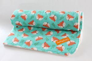 Orange Fox  with ivory minky back