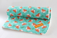 Orange Fox  with ivory minky back