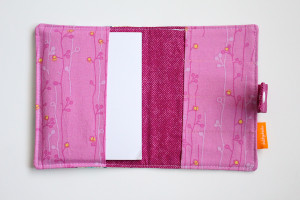 Feathers crayon wallet open view