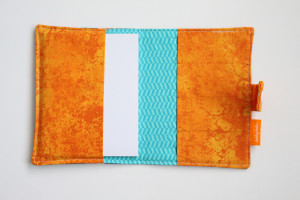Spring Foxes crayon wallet open view