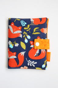 Spring Foxes crayon wallet closed view