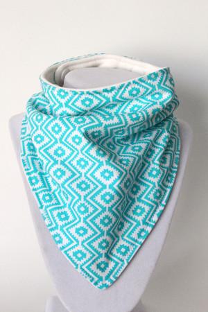 Arizona Teal Design bandana bib with organic bamboo back.