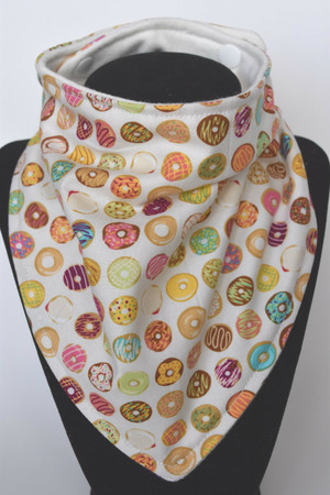 Mini Donuts bandana bib with bamboo back