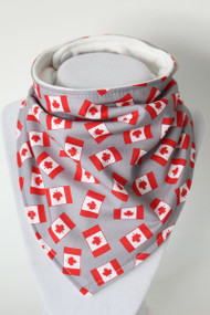 Purely Canadian - Flags bandana bib with bamboo back