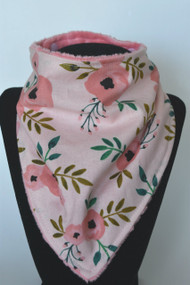 Pink on Pink Floral with pink minky back