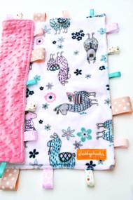No Prob-Llama Pink large tag blanket