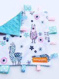 No Prob-Llama Teal small tag blanket