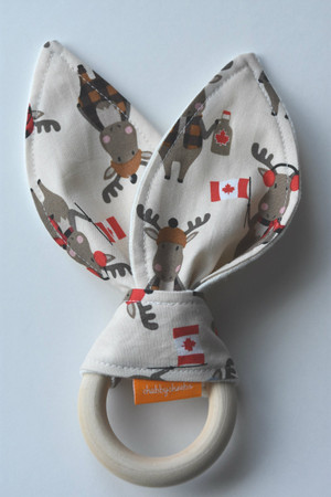 Purely Canadian Moose (2) wooden teether