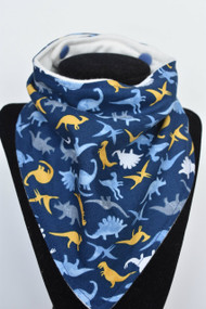 Dinomania bandana bib with bamboo back