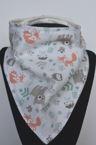 Little Forest Animals bamboo backed bandana bib