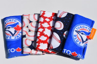 5 pk freezie cozy in blue jays, baseball, Canada, Balls and Blue Jays