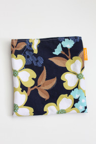 Navy Floral snack bag