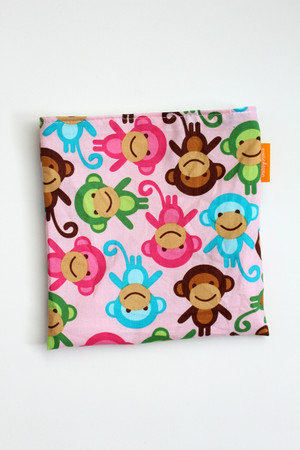 Pink Monkeys snack bag