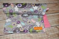 Purple summer's breeze pink back stroller blanket
