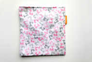 Mini Foxes Pink reusable snack bag