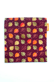 Brown fall leaves reusable snack bag