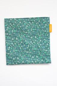 Teal mosaic reusable snack bag