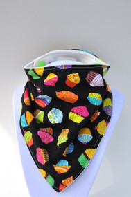 Cupcakes bandana bib with bamboo backing