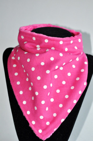 Fuchsia Dot with Hot pink minky backing