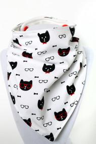 Cool Cats bandana bib with organic bamboo back.