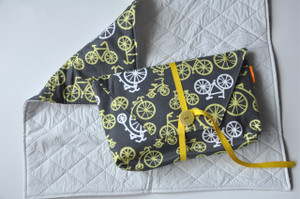 Bicycles in Yellow Diaper-to-go Bag open view