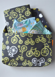Bicycles in Yellow diaper-to-go bag