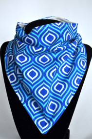 Singing the blues bandana bib with bamboo backing