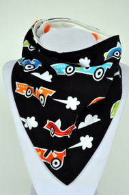 Black Racers with bamboo back bandana bib
