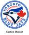 Toronto Blue Jays minky backed blanket