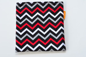 Black, Red and Grey Chevron snack bag