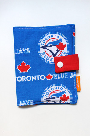 Blue Jays crayon wallet closed view