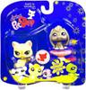Littlest Pet Shop 2009 Assortment A Series 4 Cat & Bunny Figure 2-Pack #981 [Yellow, Pedestal]
