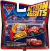 Disney Cars Cars 2 Action Agents Lightning McQueen Plastic Car