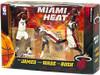 McFarlane Toys NBA Sports Picks 3-Packs Miami Heat Action Figure 3-Pack [White Jerseys]
