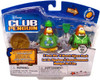 Club Penguin Mix 'N Match Series 11 Green Construction Worker & Water Suit 3000 Mini Figure Set