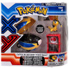 Pokemon TOMY Catch n Return Pokeball Helioptile & Quick Ball Figure Set