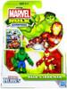 Marvel Playskool Heroes Hulk Adventures Hulk & Iron Man Exclusive Action Figure Set