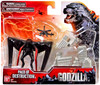 Godzilla 2014 Pack of Destruction Playset [Winged Monster & Helicoptor]