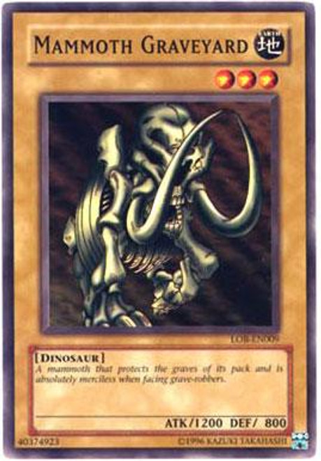 YuGiOh Legend of Blue Eyes White Dragon Common Mammoth Graveyard LOB-009