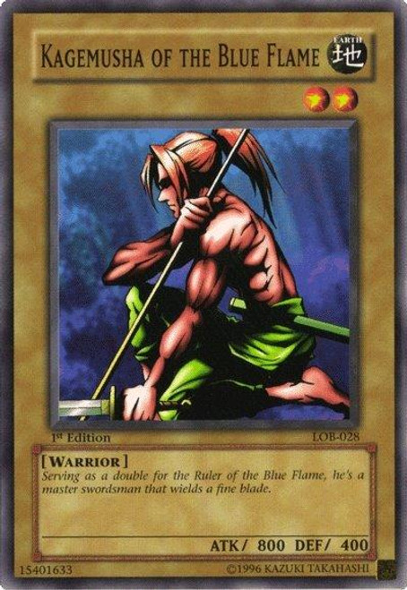 YuGiOh Legend of Blue Eyes White Dragon Common Kagemusha of the Blue Flame LOB-028